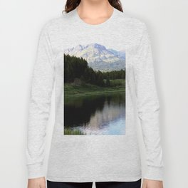 Evening Shadows on Andrews Lake Long Sleeve T-shirt