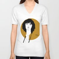 melissa smith V-neck T-shirts featuring Patti Smith by Le Butthead