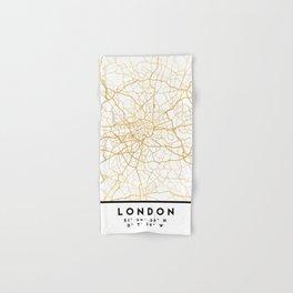 LONDON ENGLAND CITY STREET MAP ART Hand & Bath Towel