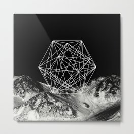 Geometric Nature - Abstract, conceptual black and white Metal Print