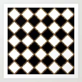 Geometric ornament gold seamless pattern Art Print