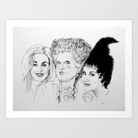 hocus pocus Art Prints featuring Hocus Pocus by Olivia Michaels
