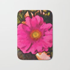 Pink and Yellow Flower with some Orange Bath Mat