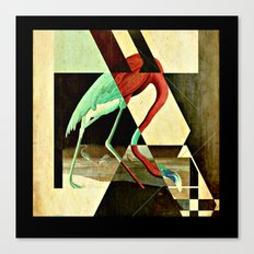 Flamingo Duet 2 Canvas Print