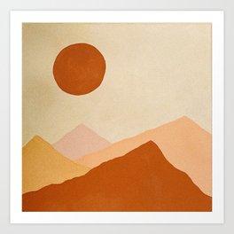 Desert Dunes Art Print