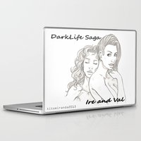 saga Laptop & iPad Skins featuring DarkLife Saga Characters: Ire and Val by Ronnie Massey
