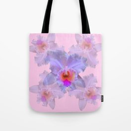 TROPICAL LILAC CATTLEYA ORCHID FLOWERS PINK ART Tote Bag
