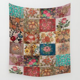 Gypsy Vintage Patchwork Wall Tapestry