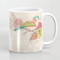 country Mugs featuring Country Garden by Amanda Dilworth