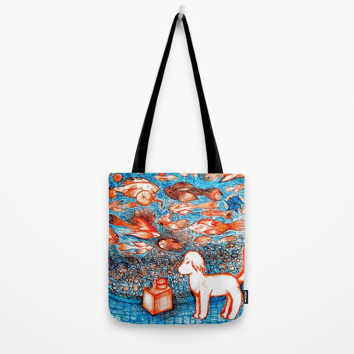 Suki by the Koi Pond Tote Bag