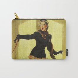 Pin Up Girl and Black Poodle Vintage Art Carry-All Pouch