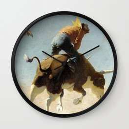 "William Leigh Western Art ""A Wild Texas Steer"" Wall Clock"