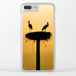 storks #society6 #decor #buyart Clear iPhone Case