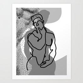 NOODDOOD Lines 14 Art Print