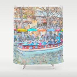 Ride Down The River - San Antonio, Texas Shower Curtain