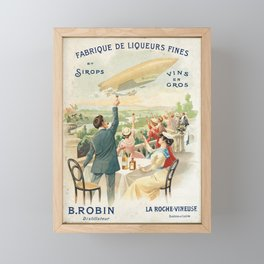 Advertisement fabrique de liqueurs fines b robin Framed Mini Art Print