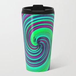 Psychedelic Retro Swirl Travel Mug