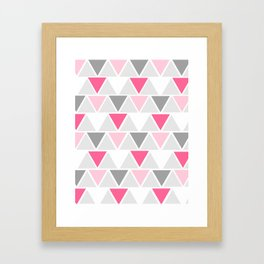 Directions - pink Framed Art Print