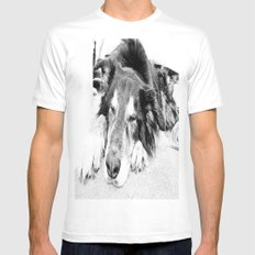 Tired Old Dog Mens Fitted Tee MEDIUM White