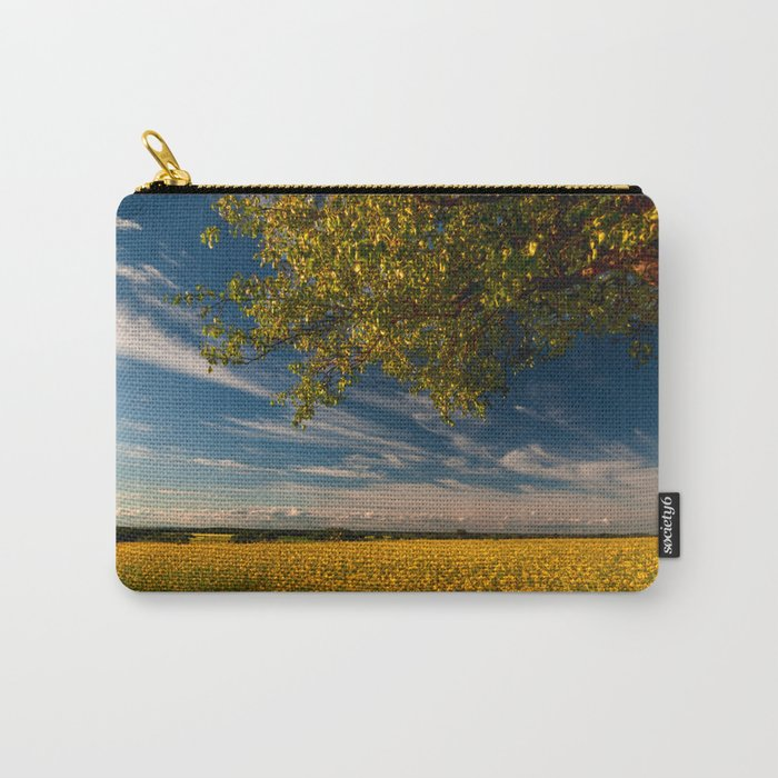 Wonderful springfields with beautiful sky - Rape Carry-All Pouch