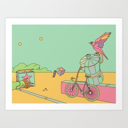 Coffee and Bicycles Art Print