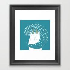 Sleeping unicorn Framed Art Print