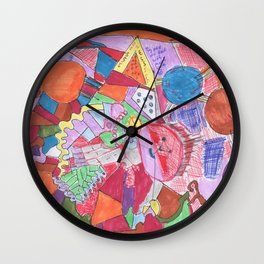 Lost Souls in the Lost and Found, Outsider Art  Wall Clock