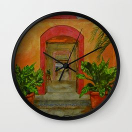 Portals to Paradise Wall Clock