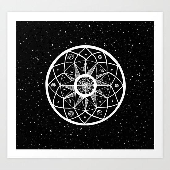 Cosmic Mandala Art Print
