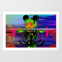 SHE IS THE MAN BEHIND THE CURTAIN Art Print