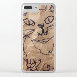 Cat on the bag Clear iPhone Case