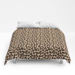 Leopard Print, Black, Brown, Rust and Tan Comforters