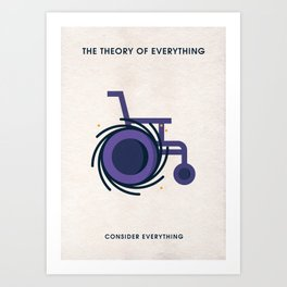 The Theory Of Everything Minimalist Poster - Black Hole Art Print