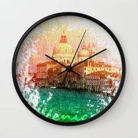 venice Wall Clocks featuring Venice by GingerRogers