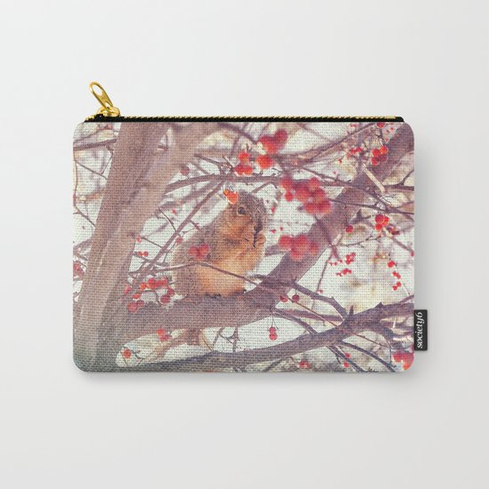 Squirrel Meal on a Cherry Tree Carry-All Pouch