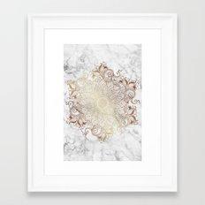 Mandala - Marble gold Framed Art Print