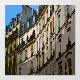 Paris Houses Canvas Print