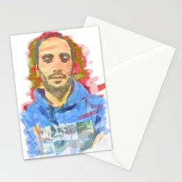 watercolor of the author's colors Stationery Cards