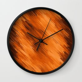 brown orange and dark brown painting texture abstract background Wall Clock