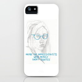 short-sighted impressionists iPhone Case