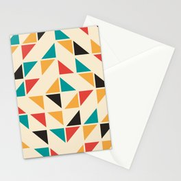 Triangles Mid Century Pattern Stationery Cards