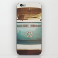 volkswagen iPhone & iPod Skins featuring Volkswagen Bus by Briole Photography