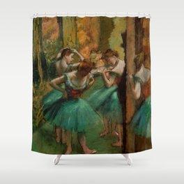 "Edgar Degas ""Dancers, Pink and Green"" Shower Curtain"