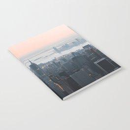 Pink skies over Manhattan NYC Notebook