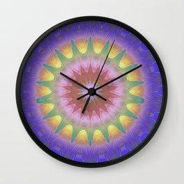 Royal Purple Ethereal Glow Wall Clock