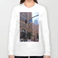 broadway Long Sleeve T-shirts featuring Off Broadway by Jacqueline Obispo