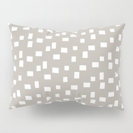 Rectangles 8 | Pattern in Stone and White Pillow Sham