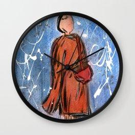 Nail Polish Painting of a Monk Wall Clock