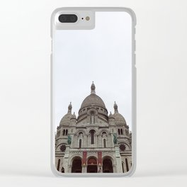 Sacre Cœur on a cloudy day Clear iPhone Case