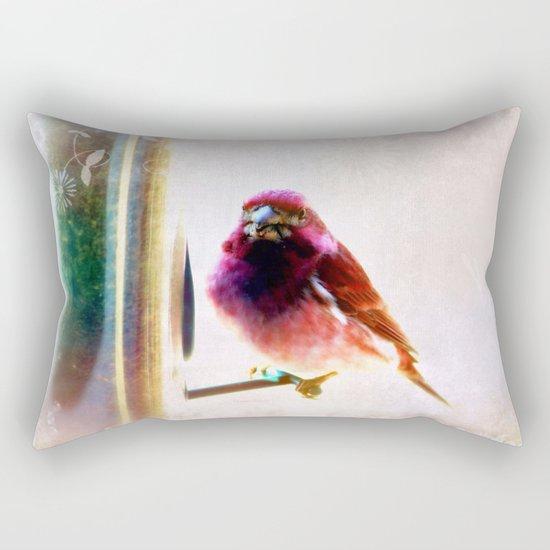 Purple Finch Rectangular Pillow